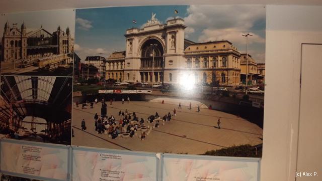 Gara Keleti si piata din fata ei inainte de a se incepe lucrul la linia 4 metro