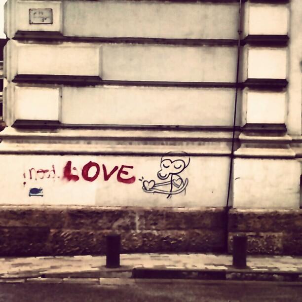 Arta (sau graffiti) pe o latura a cladirii Primariei Arad