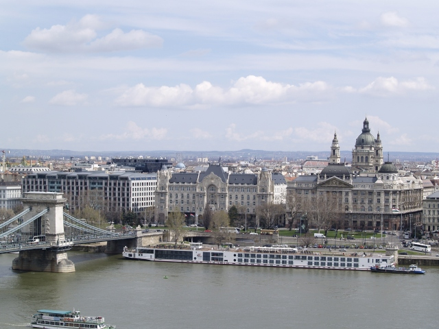 Panorama spre Pesta din Buda Castle