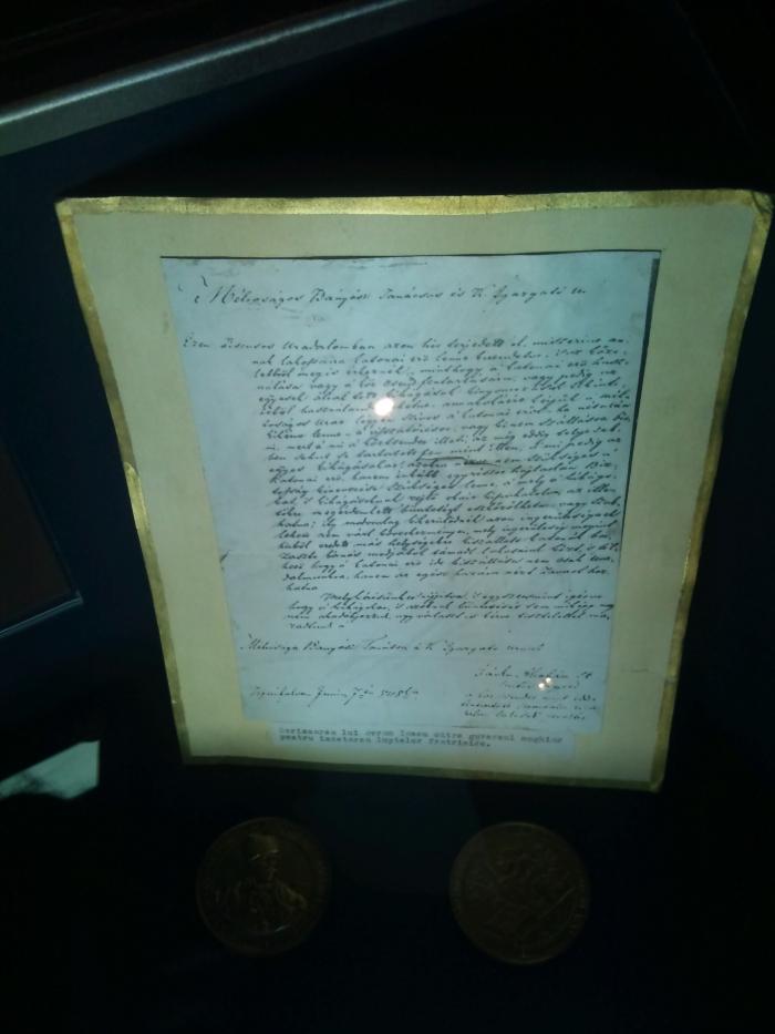 Scrisoarea lui Avram Iancu catre autoritatii maghiare cerand incetarea luptelor (1848)