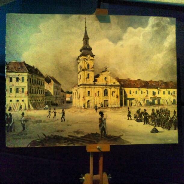 Pictura reprezentand Aradul vechi
