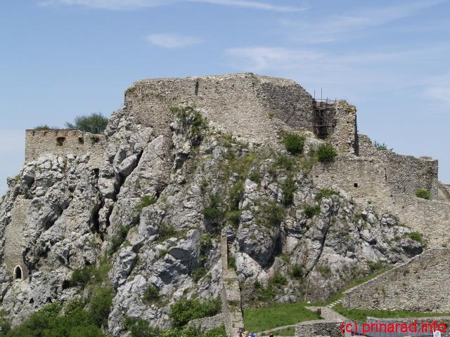Partea de sus a Castelului Devin (nevizitabila in prezent)